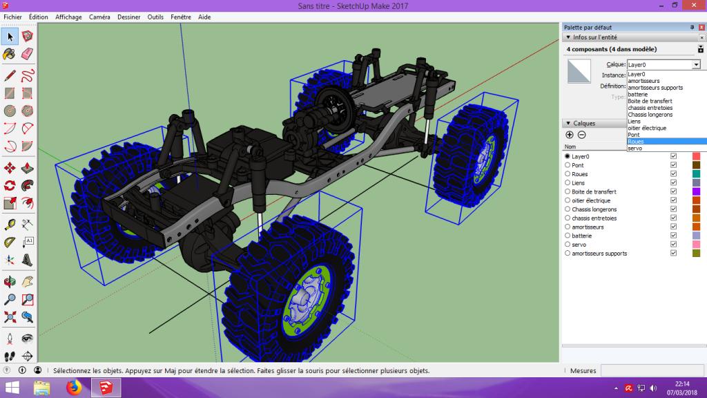 [Tuto] Modelisation 3D - Tuto 2 sur Sketchup - Importation, faire des groupes, modification de pieces. 120