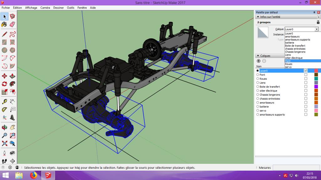 [Tuto] Modelisation 3D - Tuto 2 sur Sketchup - Importation, faire des groupes, modification de pieces. 123