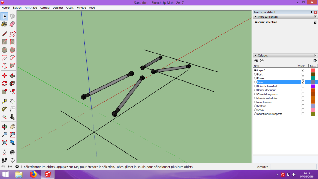[Tuto] Modelisation 3D - Tuto 2 sur Sketchup - Importation, faire des groupes, modification de pieces. 126