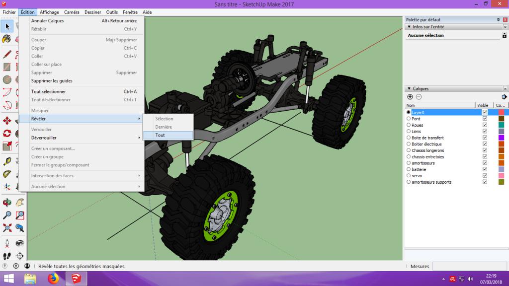 [Tuto] Modelisation 3D - Tuto 2 sur Sketchup - Importation, faire des groupes, modification de pieces. 133