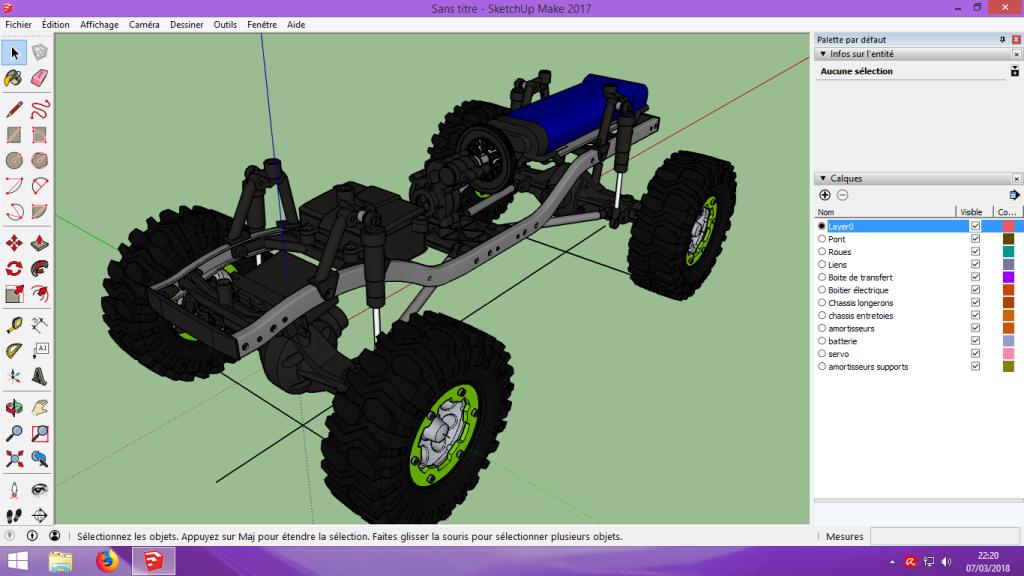[Tuto] Modelisation 3D - Tuto 2 sur Sketchup - Importation, faire des groupes, modification de pieces. 134
