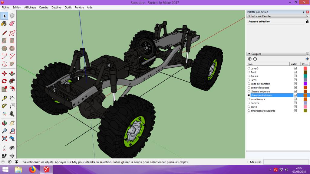 [Tuto] Modelisation 3D - Tuto 2 sur Sketchup - Importation, faire des groupes, modification de pieces. 150