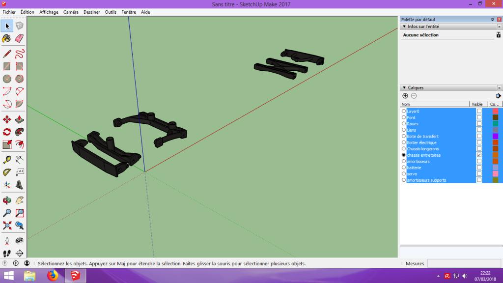 [Tuto] Modelisation 3D - Tuto 2 sur Sketchup - Importation, faire des groupes, modification de pieces. 152