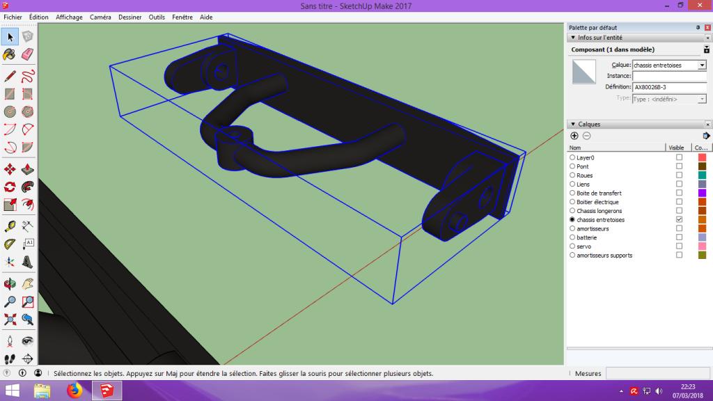 [Tuto] Modelisation 3D - Tuto 2 sur Sketchup - Importation, faire des groupes, modification de pieces. 153