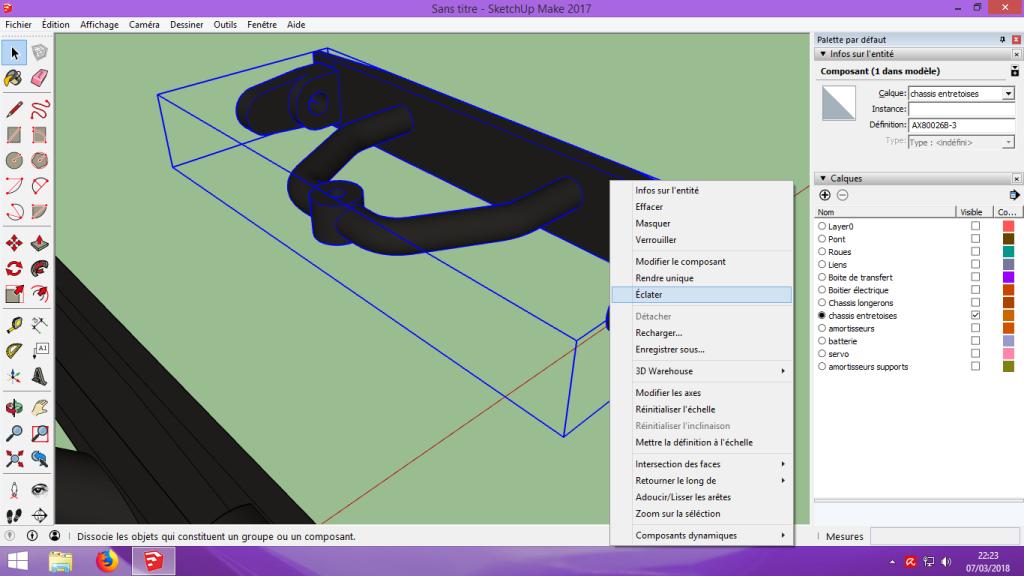 [Tuto] Modelisation 3D - Tuto 2 sur Sketchup - Importation, faire des groupes, modification de pieces. 154
