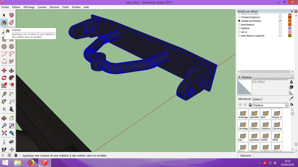[Tuto] Modelisation 3D - Tuto 2 sur Sketchup - Importation, faire des groupes, modification de pieces. 155
