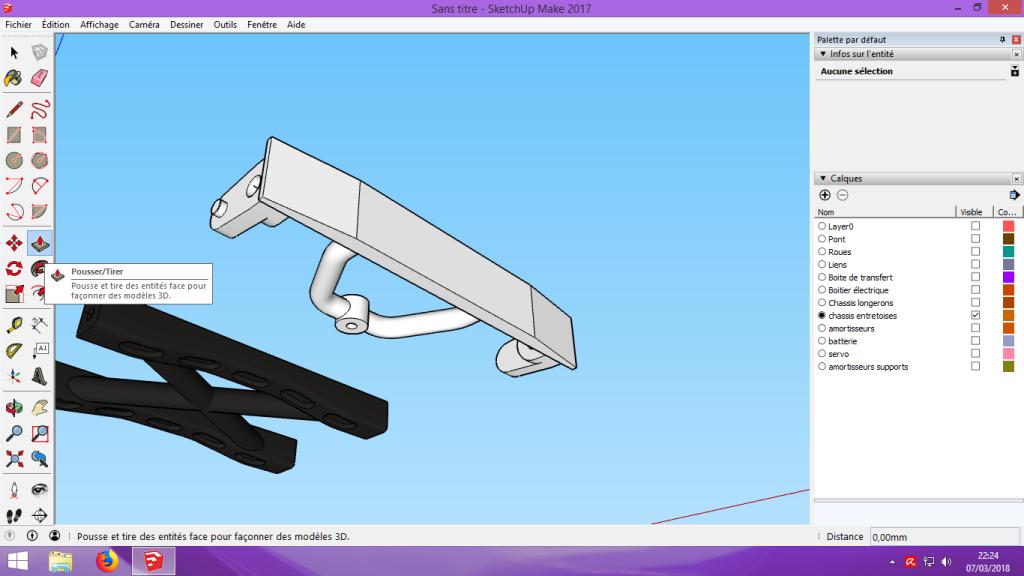 [Tuto] Modelisation 3D - Tuto 2 sur Sketchup - Importation, faire des groupes, modification de pieces. 160