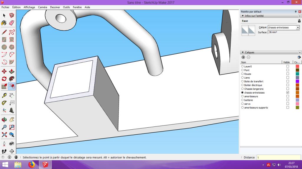 [Tuto] Modelisation 3D - Tuto 2 sur Sketchup - Importation, faire des groupes, modification de pieces. 168