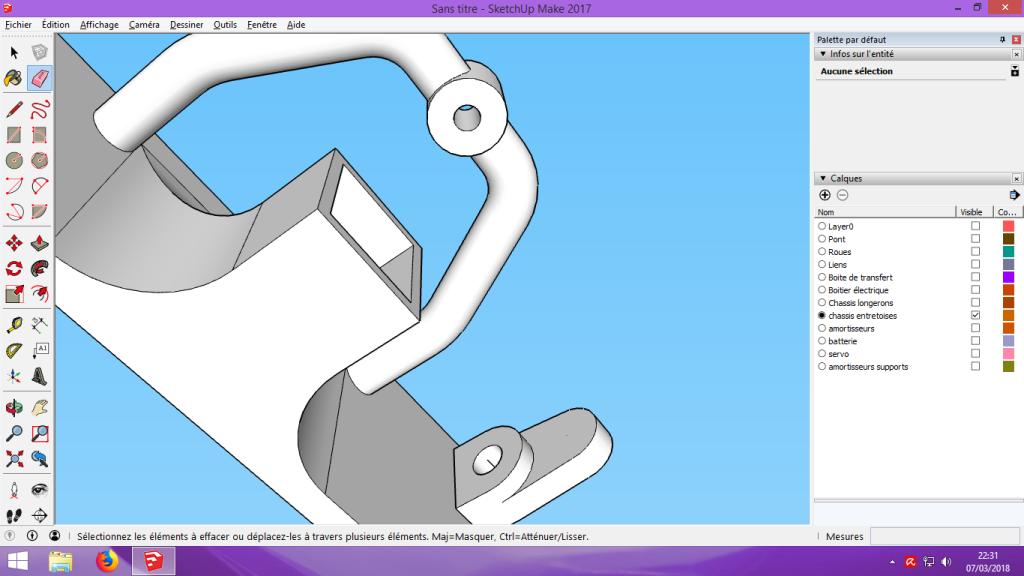 [Tuto] Modelisation 3D - Tuto 2 sur Sketchup - Importation, faire des groupes, modification de pieces. 185
