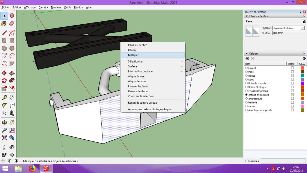 [Tuto] Modelisation 3D - Tuto 2 sur Sketchup - Importation, faire des groupes, modification de pieces. 187