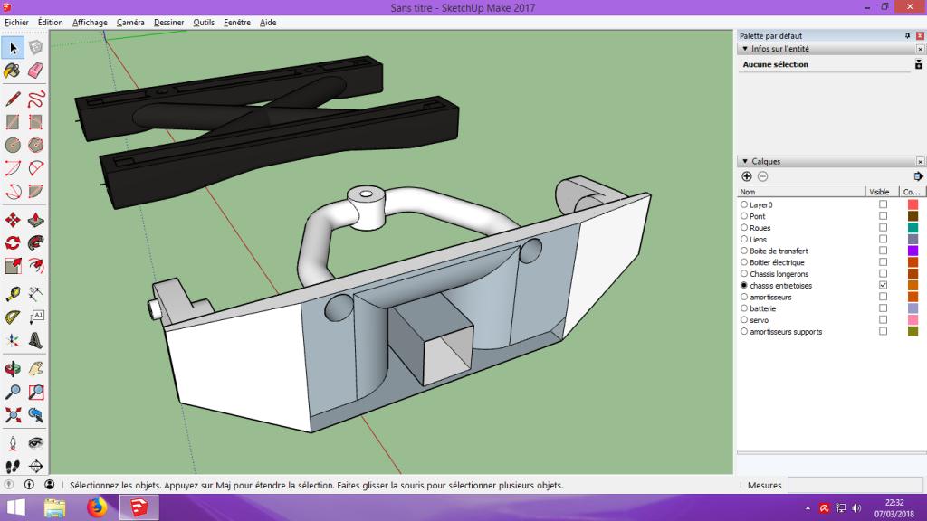 [Tuto] Modelisation 3D - Tuto 2 sur Sketchup - Importation, faire des groupes, modification de pieces. 188