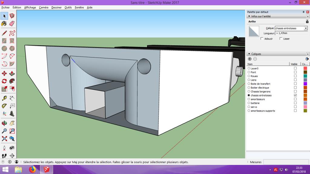 [Tuto] Modelisation 3D - Tuto 2 sur Sketchup - Importation, faire des groupes, modification de pieces. 189