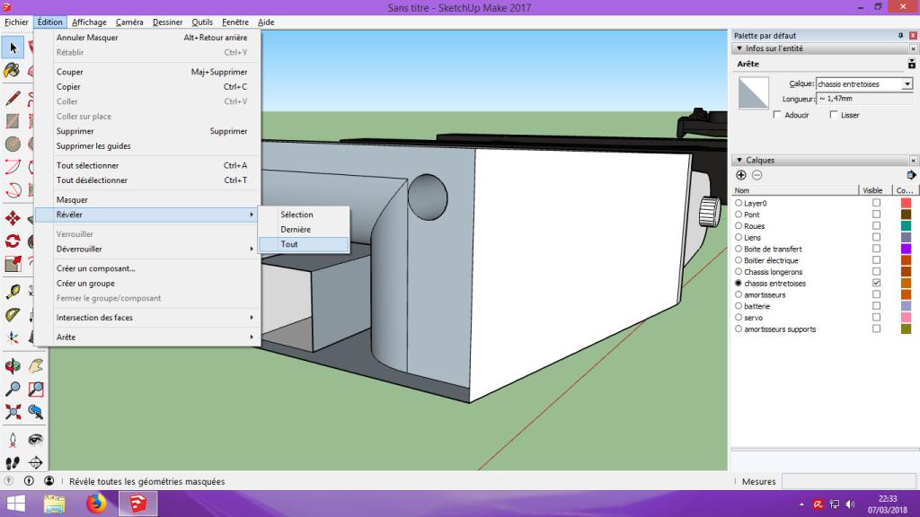 [Tuto] Modelisation 3D - Tuto 2 sur Sketchup - Importation, faire des groupes, modification de pieces. 190