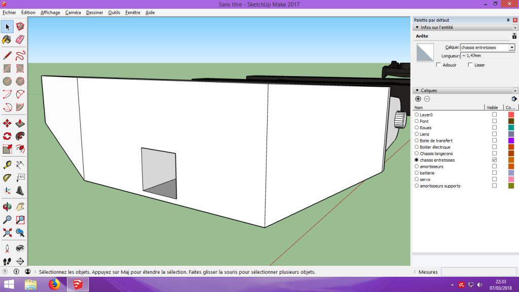 [Tuto] Modelisation 3D - Tuto 2 sur Sketchup - Importation, faire des groupes, modification de pieces. 191