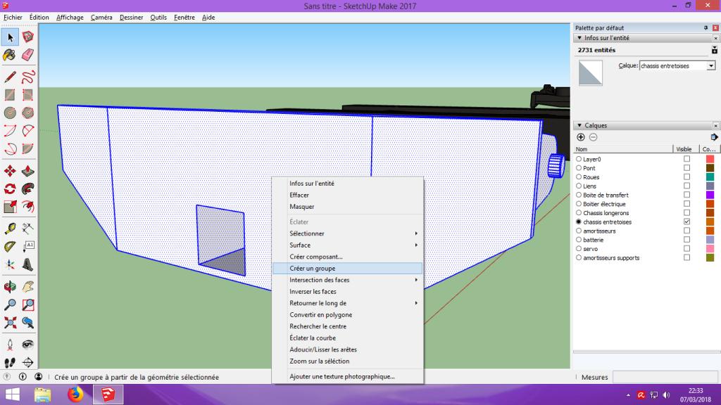 [Tuto] Modelisation 3D - Tuto 2 sur Sketchup - Importation, faire des groupes, modification de pieces. 193