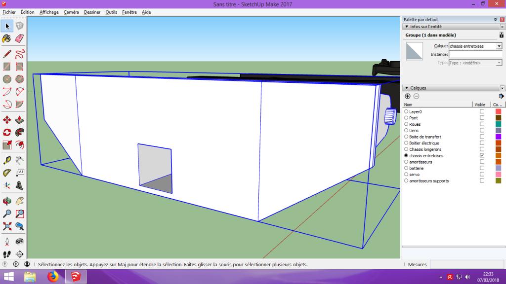 [Tuto] Modelisation 3D - Tuto 2 sur Sketchup - Importation, faire des groupes, modification de pieces. 194