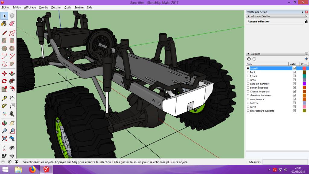 [Tuto] Modelisation 3D - Tuto 2 sur Sketchup - Importation, faire des groupes, modification de pieces. 195
